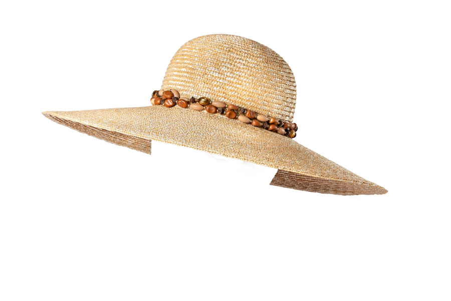 Wide brimmed  laichow straw hat